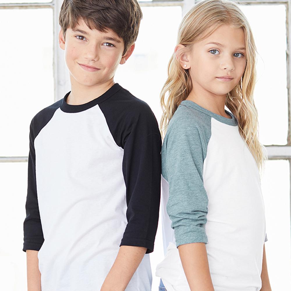 Long sleeve baseball jersey for kids