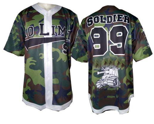 Short sleeve camo baseball jersey