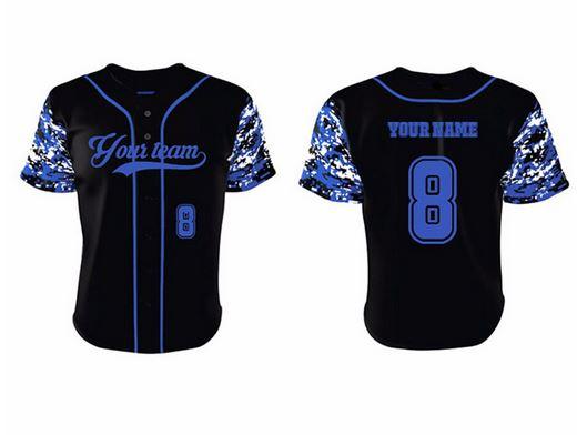 Printed baseball jersey