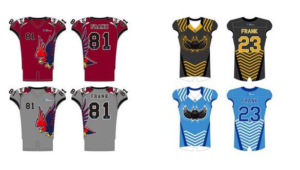Reversible football jersey