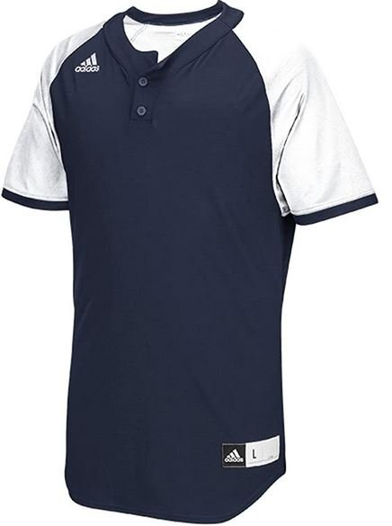 V collar two button baseball jersey