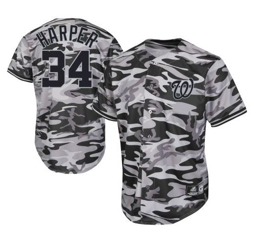 Custom camo baseball jersey
