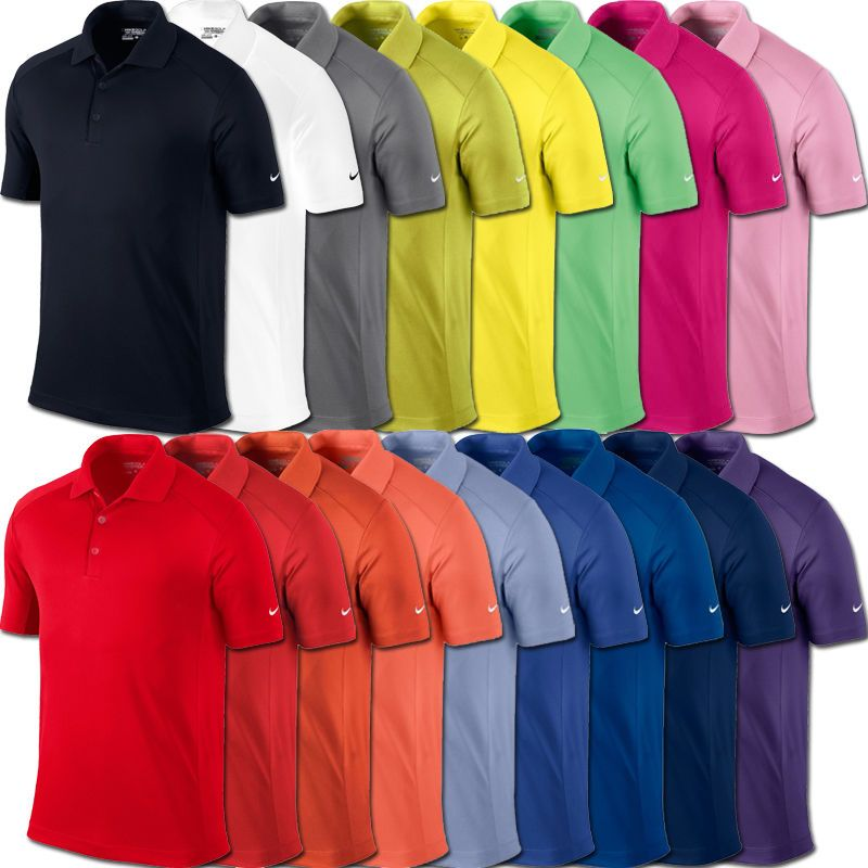 Different colors of golf shirts
