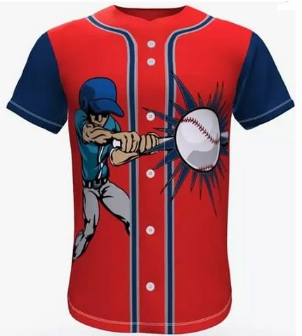 Sublimated button baseball jersey