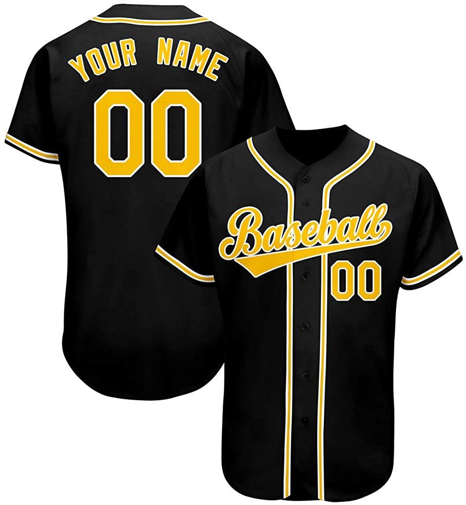 Custom button up baseball jersey