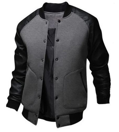 Bomber jackets with buttons