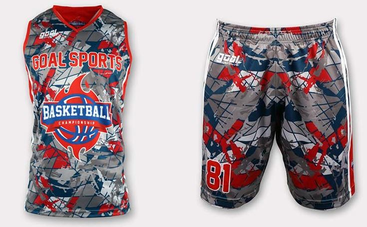 Sublimated basketball jersey design