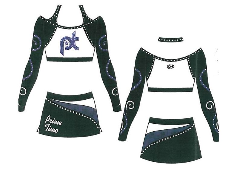 Youth cheerleading uniform design