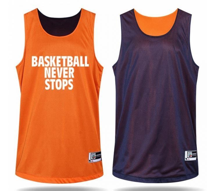 Reversible basketball jersey design