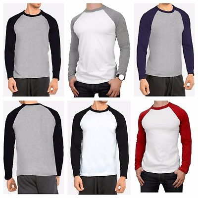 Different colors of longs sleeve baseball tee