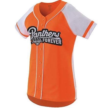 Softball jersey with button