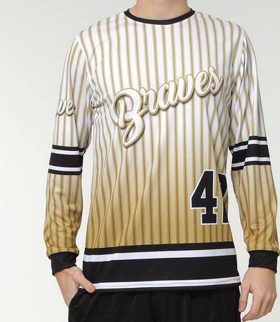 Long sleeve softball jersey