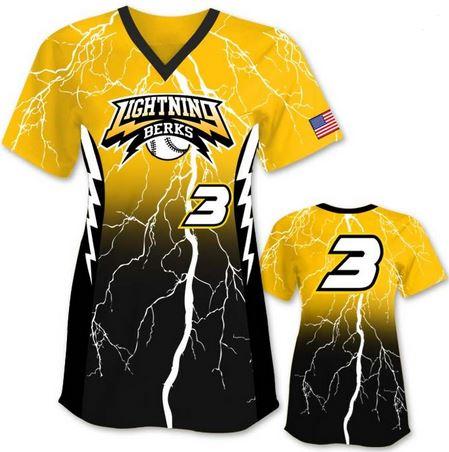 Short sleeve softball jersey
