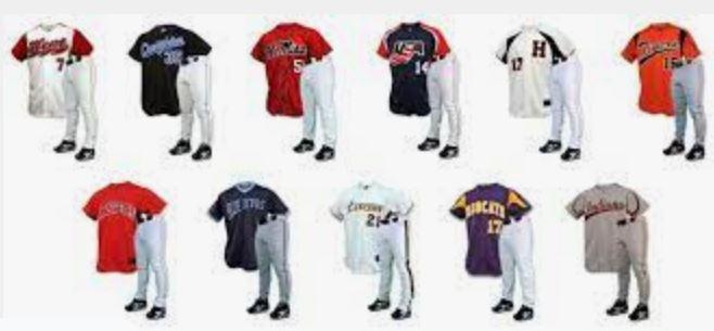 Custom sublimated baseball uniform