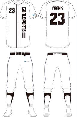 white baseball uniforms