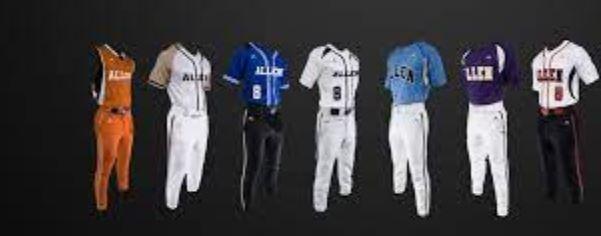 adult sublimated baseball uniform