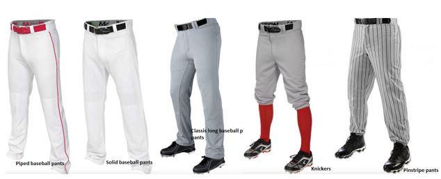 Baseball pant style