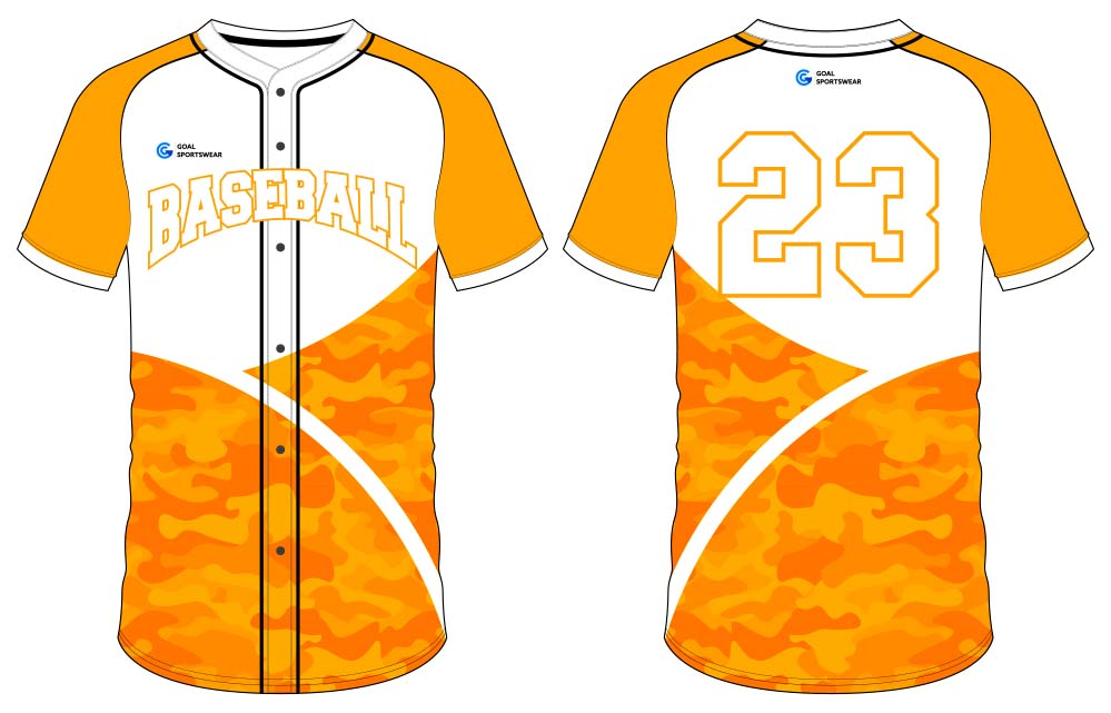 100% custom printing wholesale Sublimated button down baseball jersey