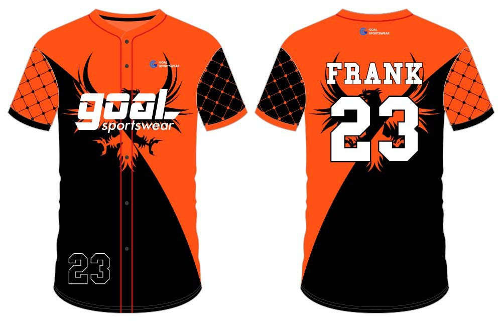 100% polyester dry fit custom design button down baseball jersey
