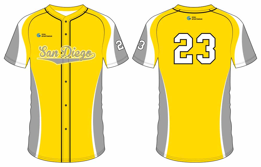 100% polyester sublimation custom printed button down baseball jersey