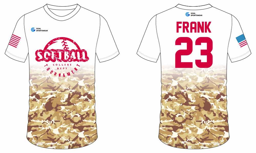 100% polyester sublimation custom printed softball jersey design