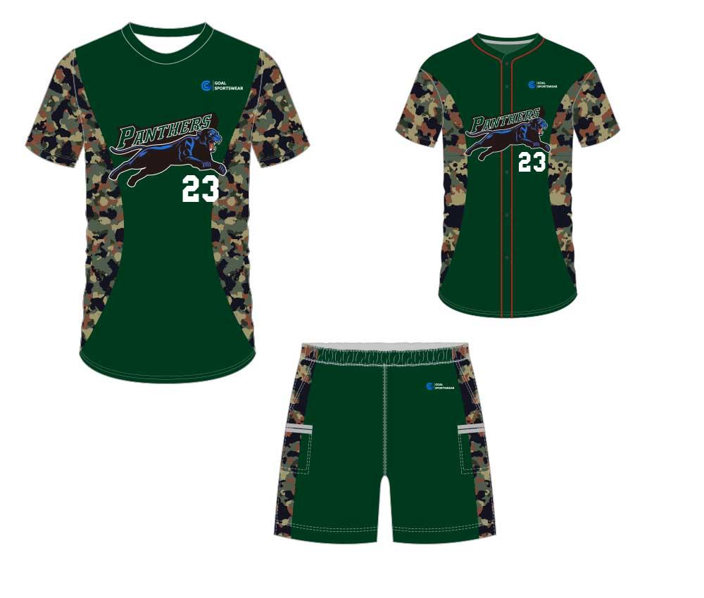 100% polyester sublimation mens custom baseball gear