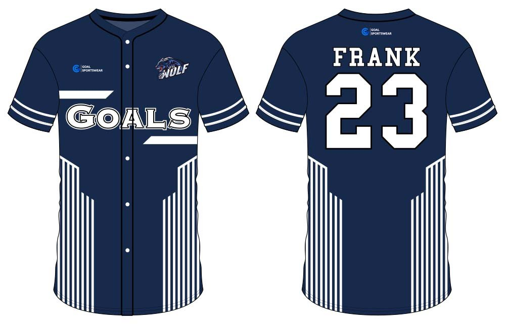 100% polyester sublimation mens custom button down baseball jersey