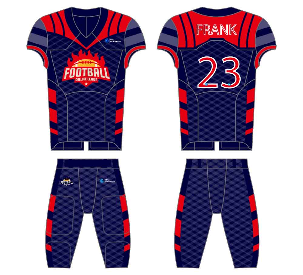 100% polyester sublimation mens custom football jersey design