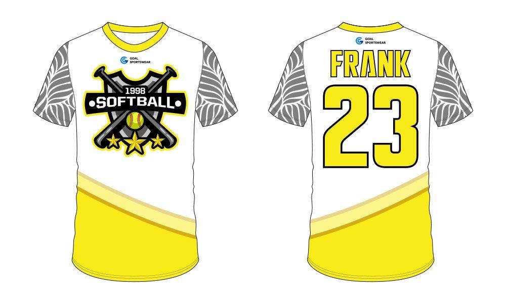 100% polyester sublimation mens custom softball jersey design