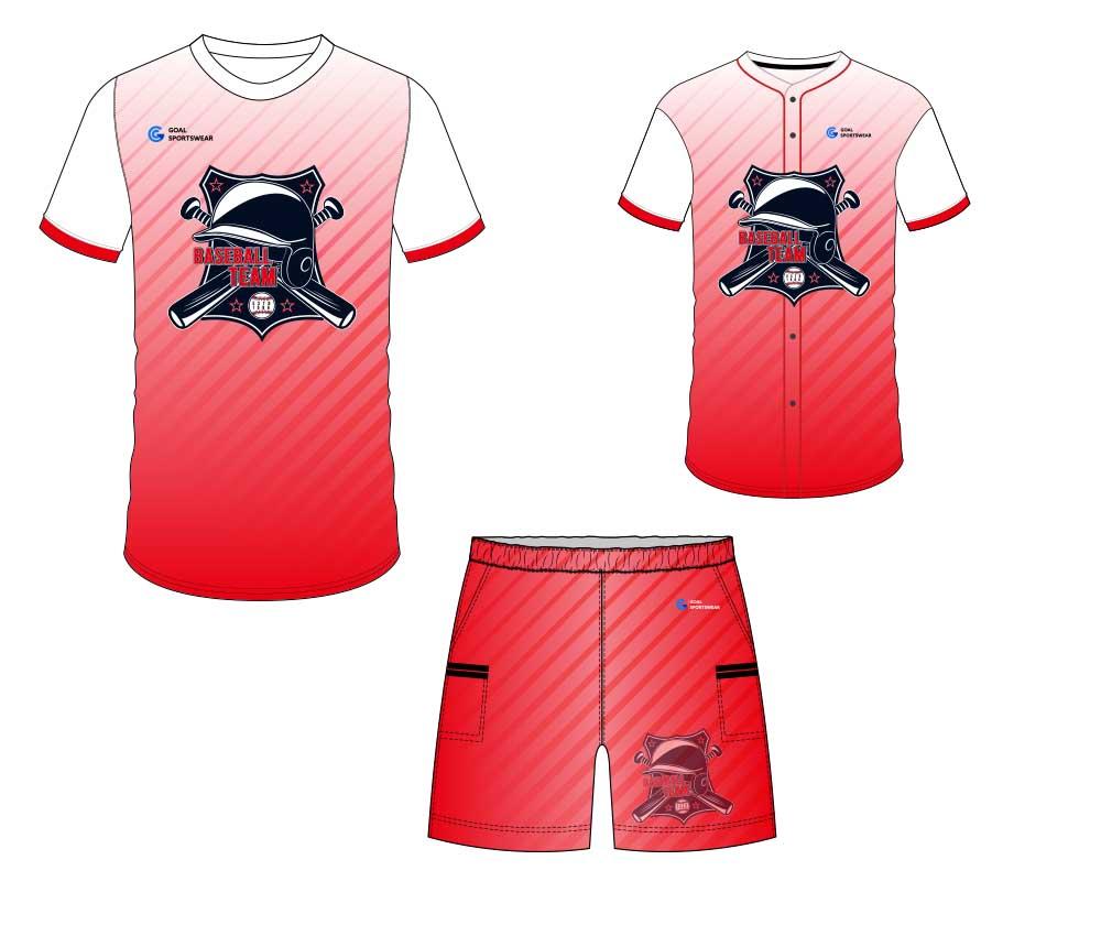 100% polyester sublimation printing custom youth team custom baseball gear