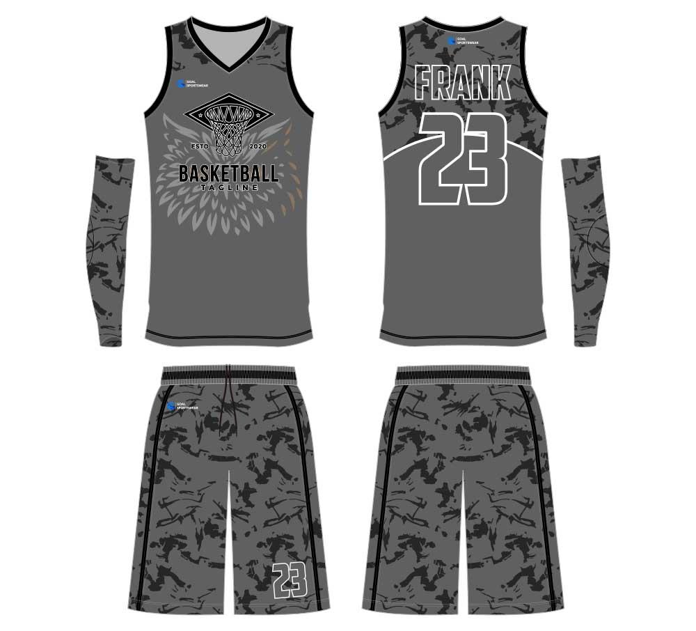 Breathable custom digital printing basketball jersey design