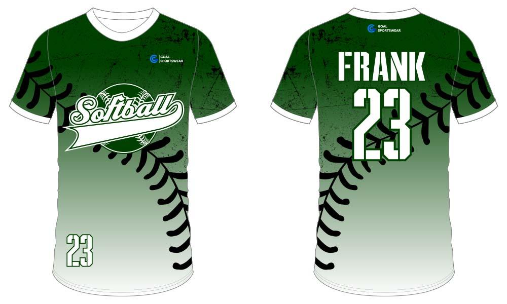 Breathable custom digital printing softball jersey design