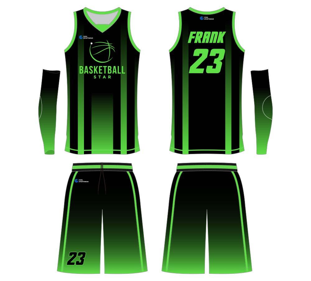 Custom dye sublimated sports uniforms basketball jersey design
