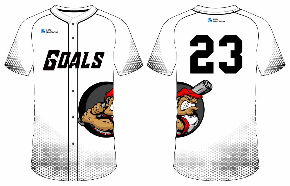 Custom Sublimated Uniforms button down baseball jersey