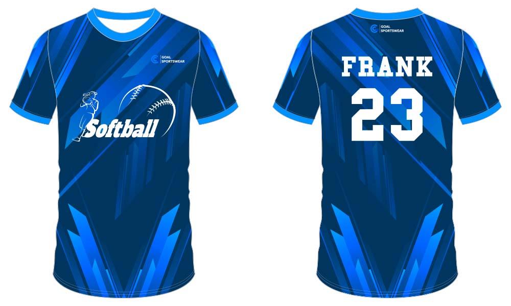 Custom Sublimated Uniforms softball jersey design