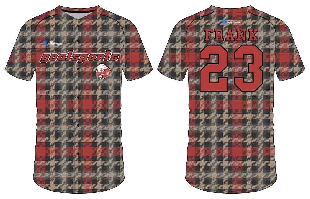 Custom design sublimation printing breathable reversible button down baseball jersey