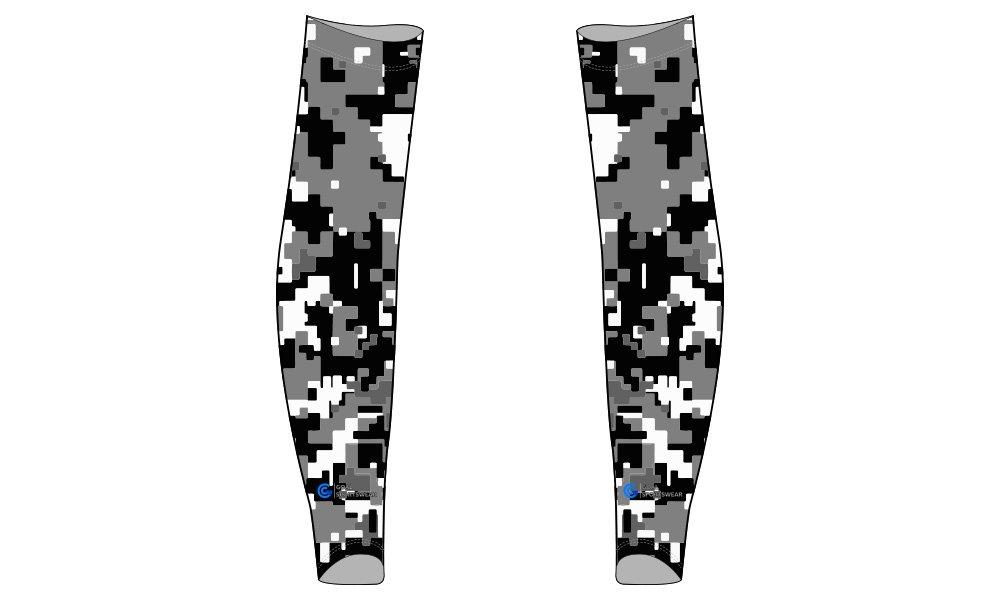 Custom made sublimated printing short sleeve custom baseball arm sleeves