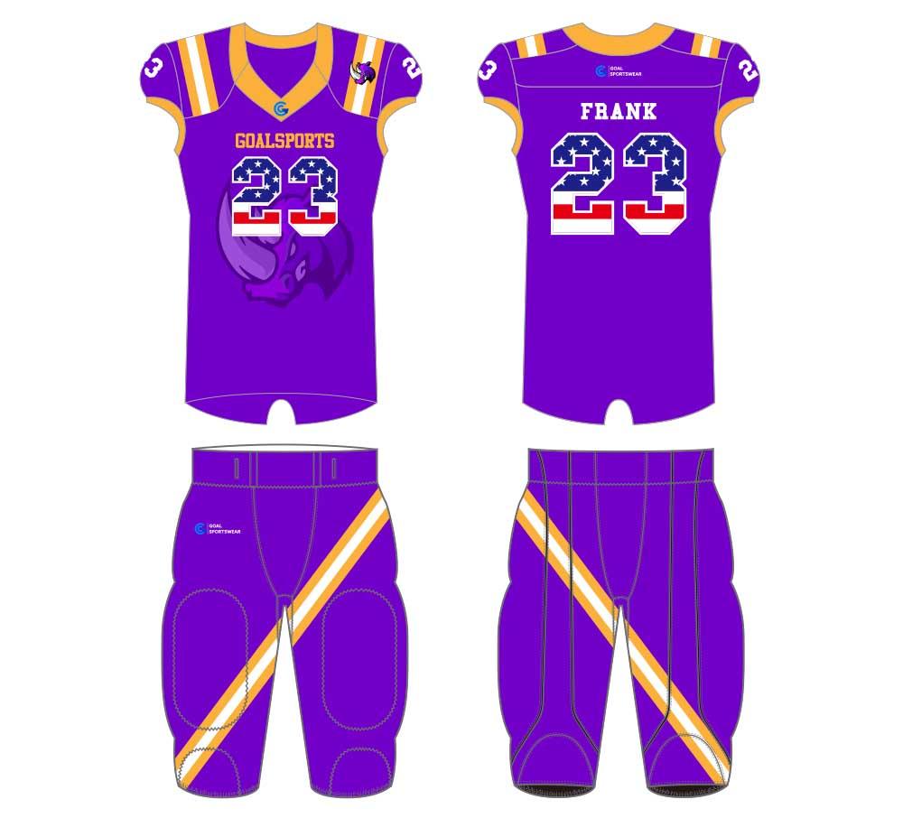 Custom made sublimated printing short sleeve football jersey design