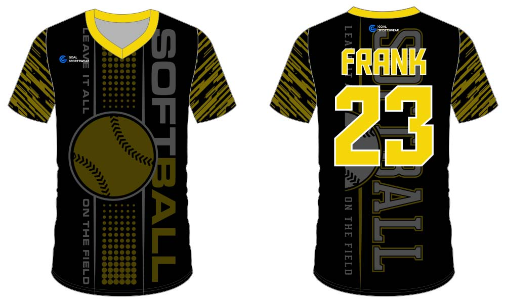Custom made sublimated printing short sleeve softball jersey design