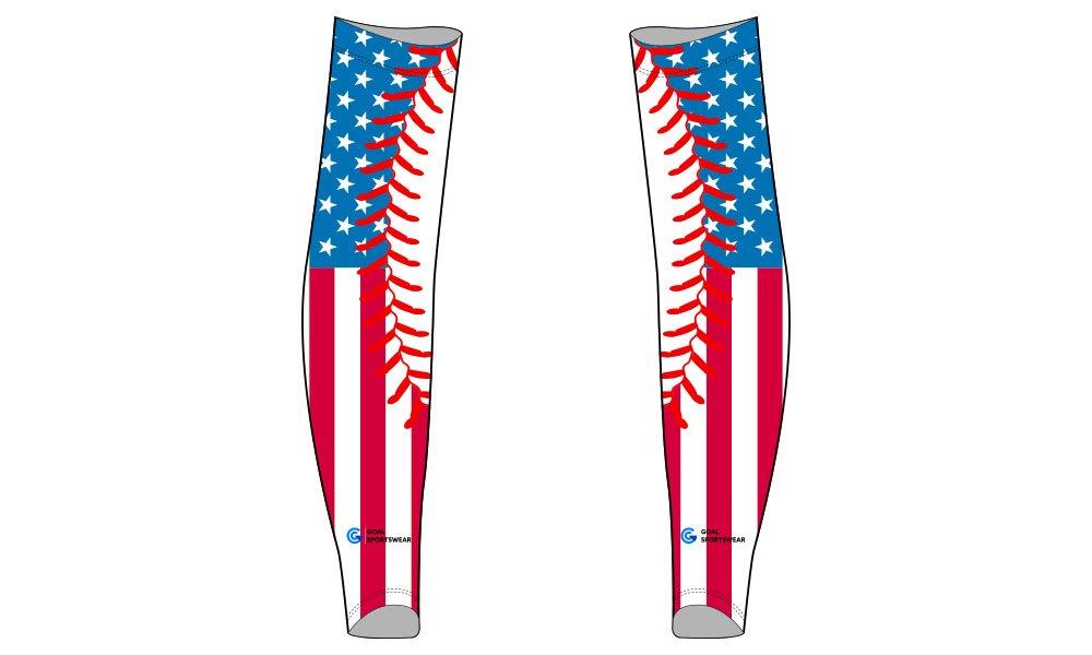 Custom wholesale sublimated printed custom baseball arm sleeves