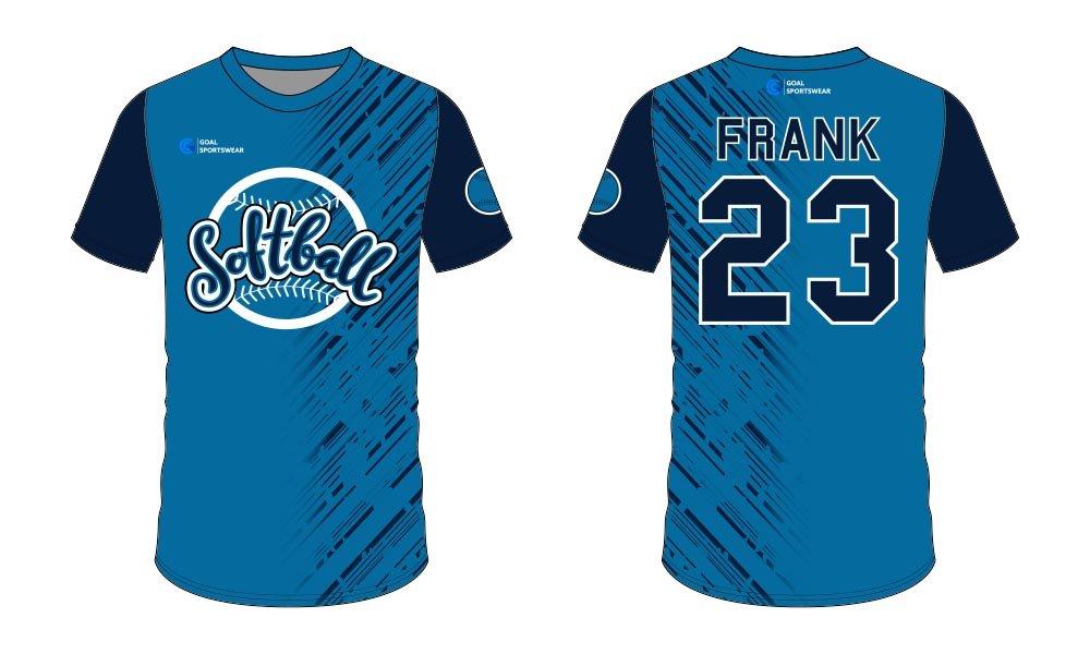 Custom wholesale sublimated printed softball jersey design
