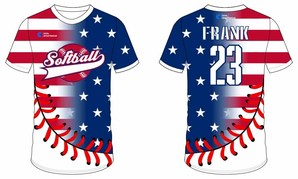 Dry fit custom team uniforms softball jersey design