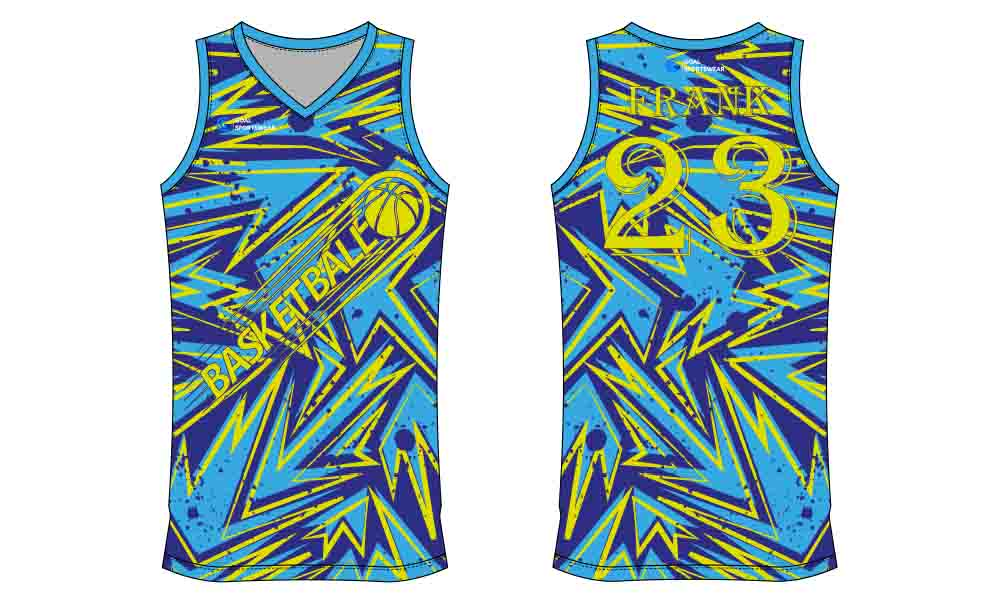 Dye sublimation custom design team basketball jersey design
