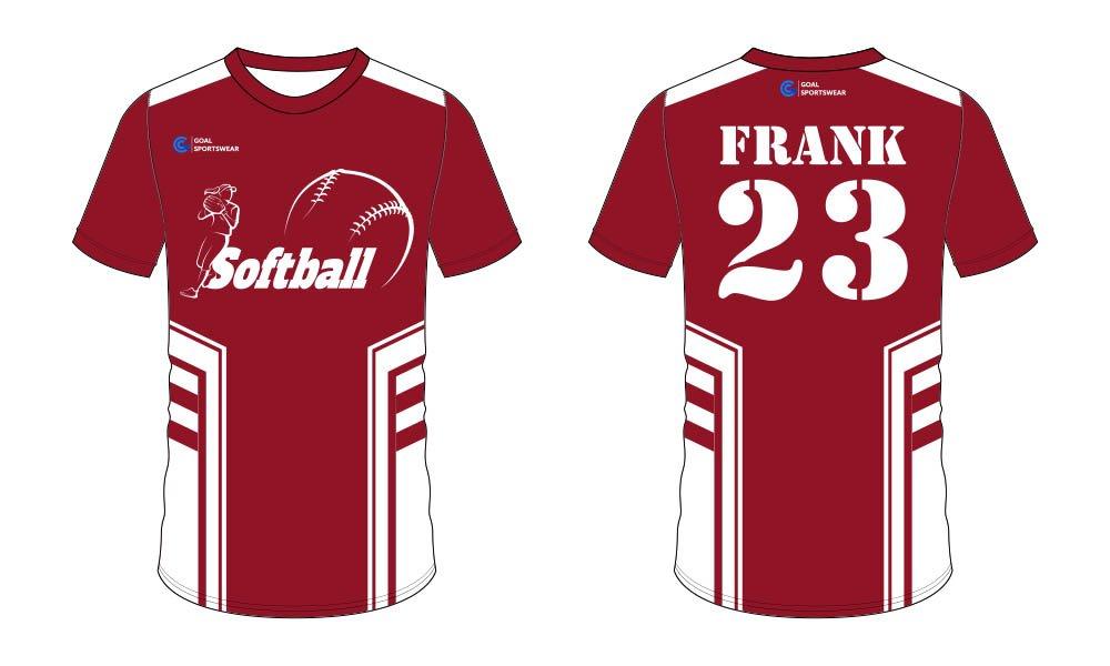 Dye sublimation custom design team softball jersey design