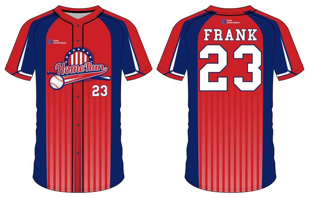 Dye sublimation printing Custom design youth custom throwback baseball jerseys