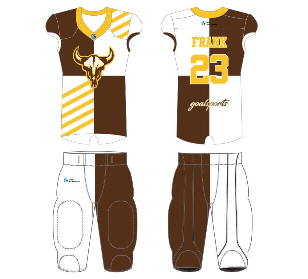 Dye sublimation printing Custom design youth football jersey design