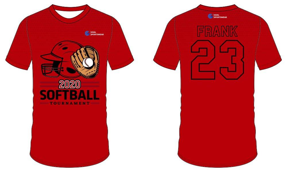 Dye sublimation printing Custom design youth softball jersey design