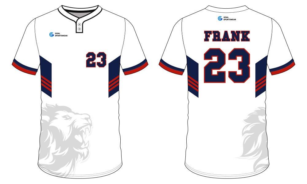 Dye sublimation printing Custom design youth sublimated baseball uniforms
