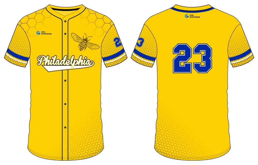 Dye sublimation printing Custom digital camo design button down baseball jersey