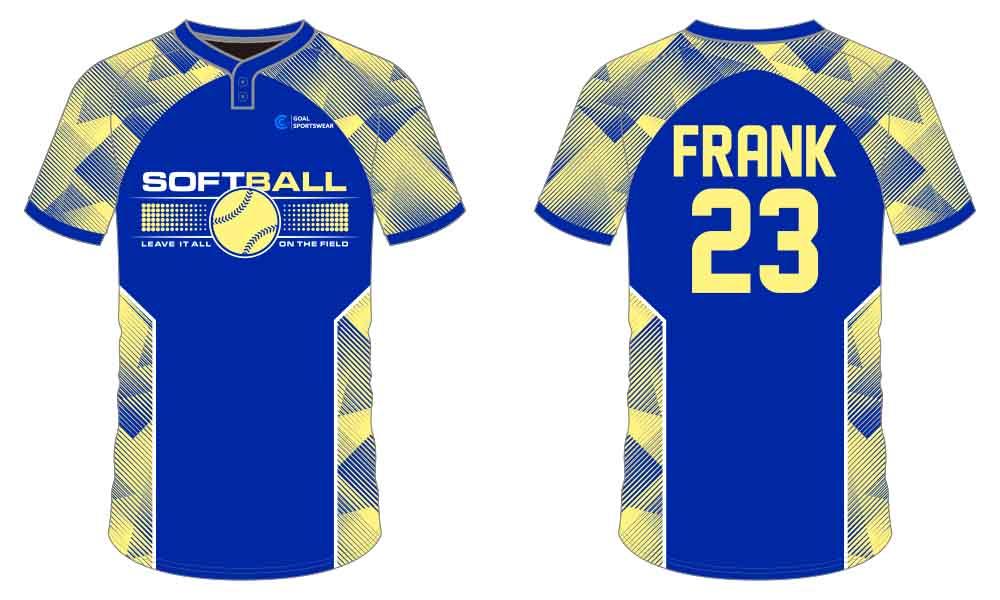 Dye sublimation printing Custom digital camo design softball jersey design